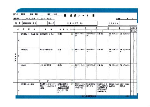 田代珈琲株式会社の成長支援シート1